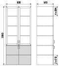 Медицинский шкаф ДМ-4-001-19