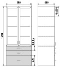 Медицинский шкаф ДМ-4-001-21