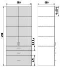 Медицинский шкаф ДМ-4-001-22