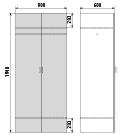 Медицинский Шкаф для одежды ДМ-4-001-29