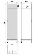 Медицинский Шкаф для одежды ДМ-4-001-36
