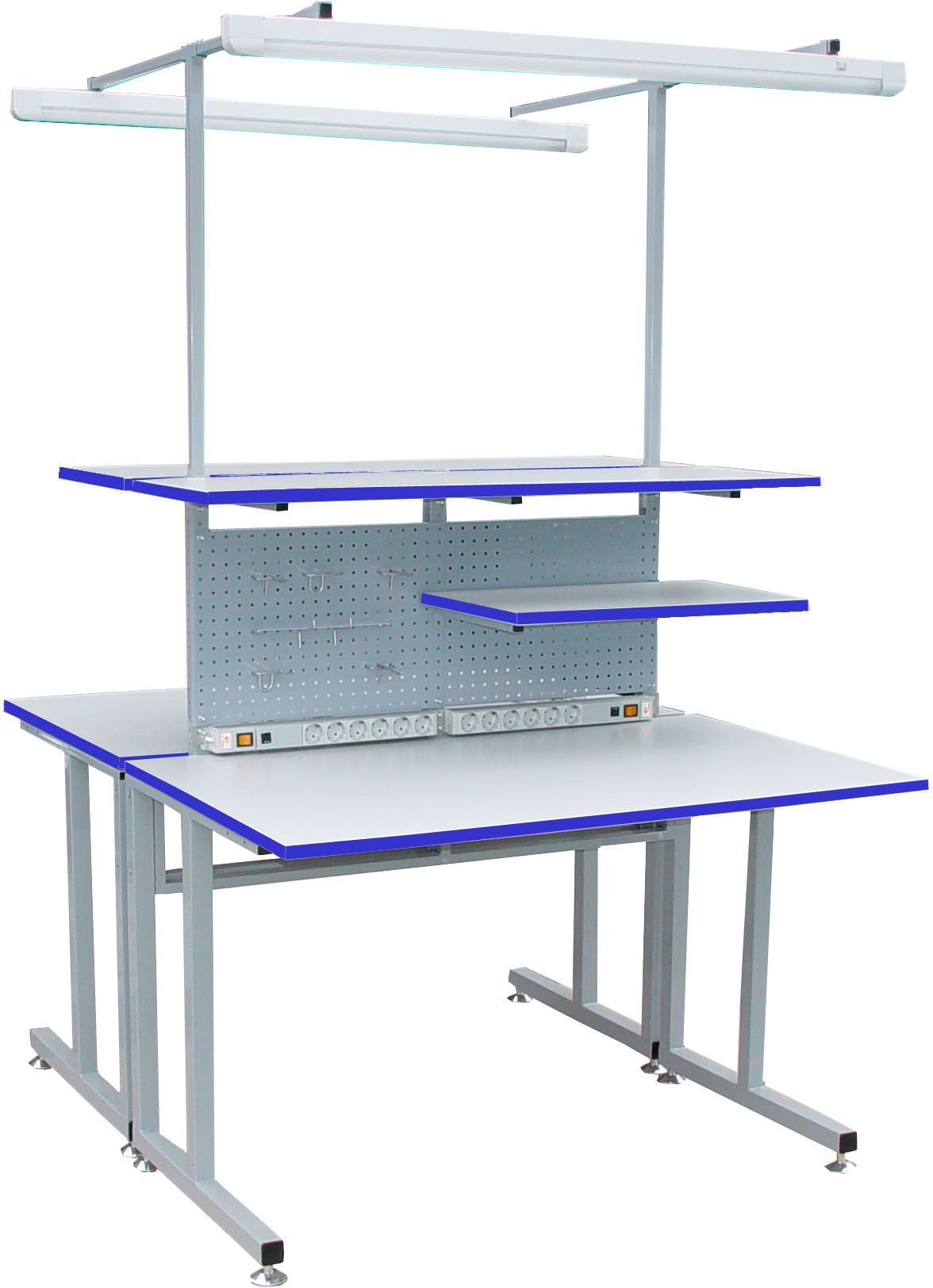 Стол рабочий антистатический С5-1500х650 Р островной ESD, фото 2