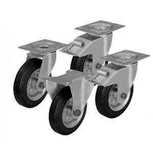 Комплект колес для ТП,ТПД, ТПК,ТПБ,ТПР, ТПСР, ТБ,ТС, ТК,ТКД, ТЯ, ДЛ  200 мм