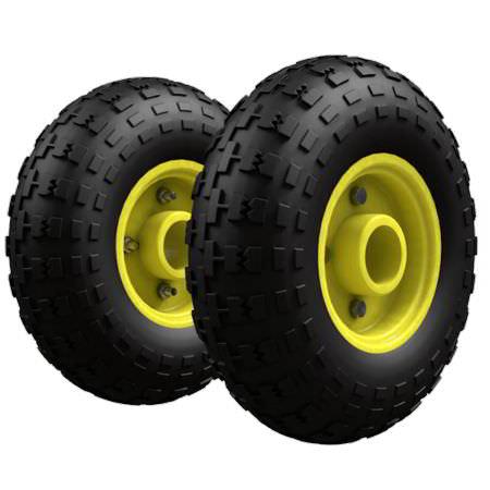 Комплект колес для КГ 250, КГ 250 П, КГ 350, ВД 4, ГБ 1, НТ 1805 пневмо желтый обод (металл) Ø250 мм