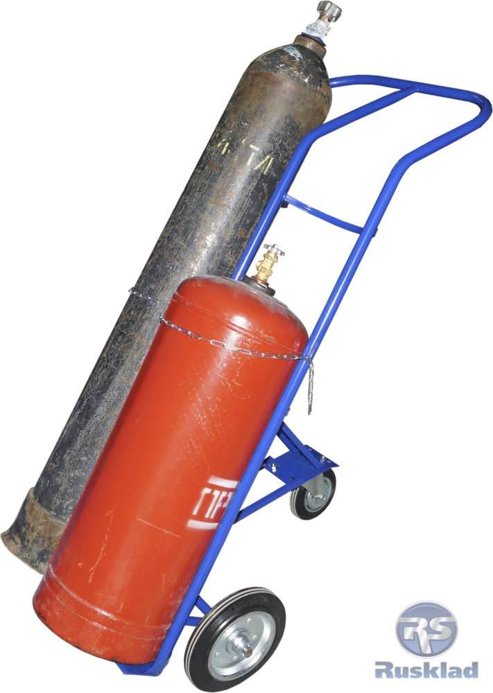 Фотография тележки для перевозки двух баллонов КП-2