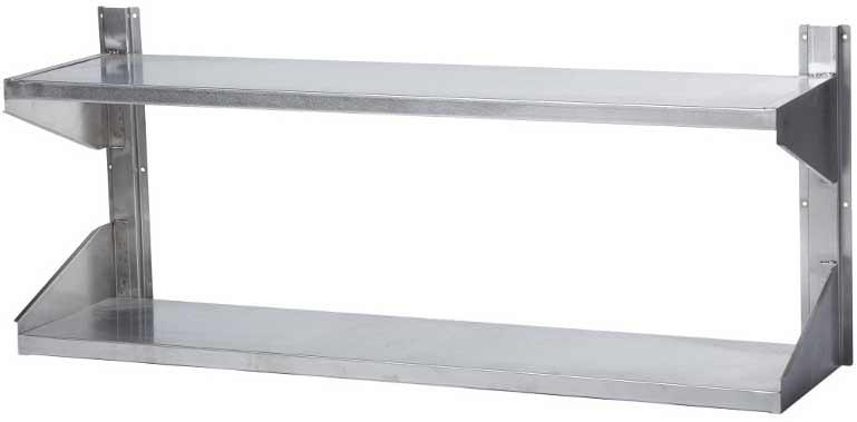 Полка настенная двухъярусная сплошная длина 500 мм