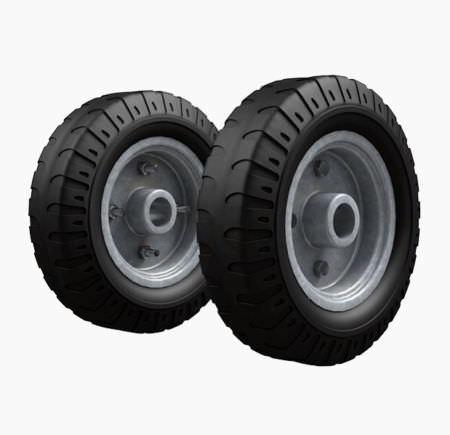 Комплект колес для КГ 250, КГ 250 П, КГ 350, ВД 4, ГБ 1, НТ 1805 пневмо 2 шт. пневмо полиамидная ступица Ø260 мм