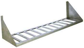 Полка настенная одноярусная с решеткой длина 500 мм