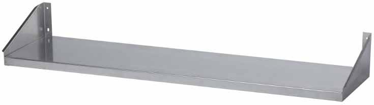Полка настенная одноярусная сплошная длина 500 мм