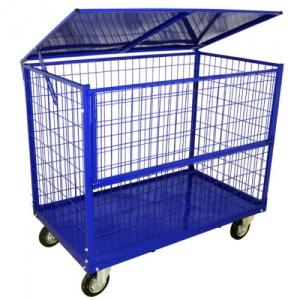 Сетчатый контейнер на колесах: область применения