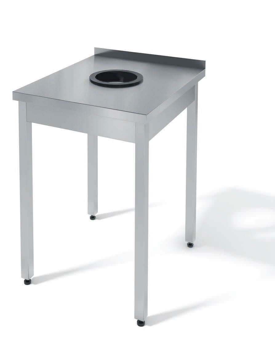 Стол для сбора отходов разборный бортом серии