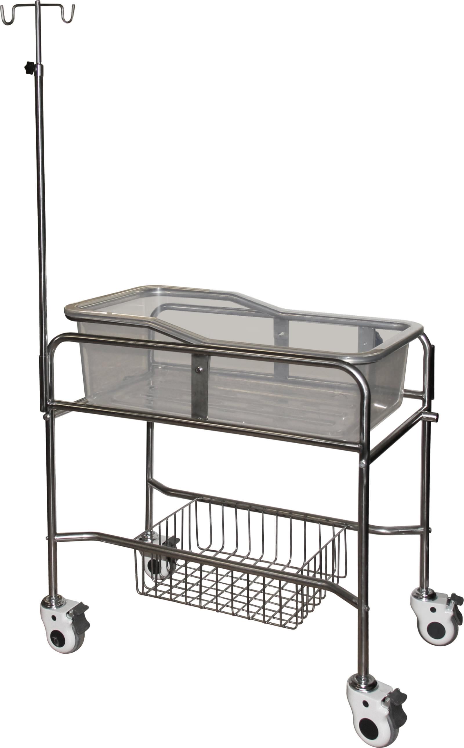 Кровать-тележка для новорожденных из нержавеющей стали SH-B502