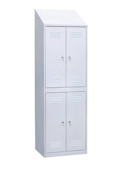 Шкаф для одежды четырехсекционный с наклонной крышей, фото 2