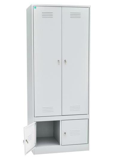 Шкаф для одежды двухстворчатый с отделениями под обувь, фото 2