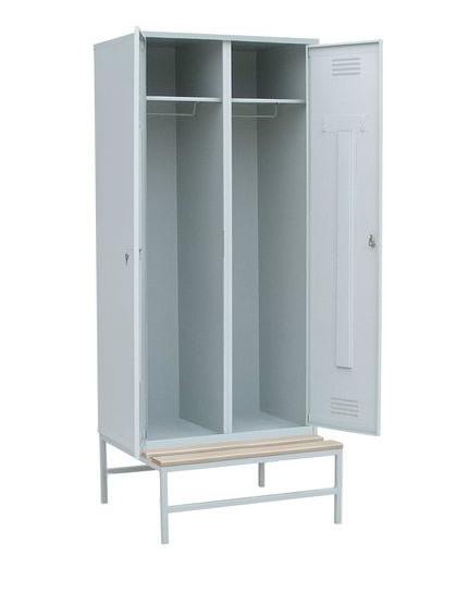 Шкаф для одежды на подставке с деревянной скамьей, фото 2