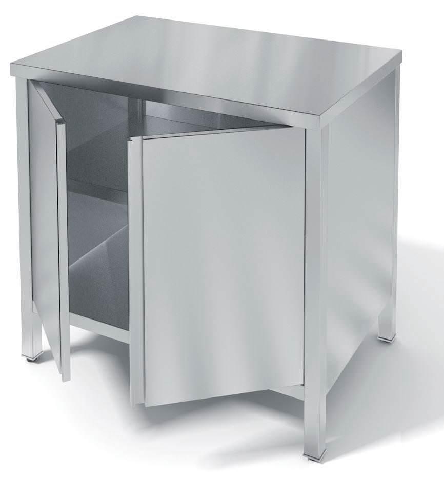 Стол производственный закрытый с распашными дверьми неразборный СБП З\Р