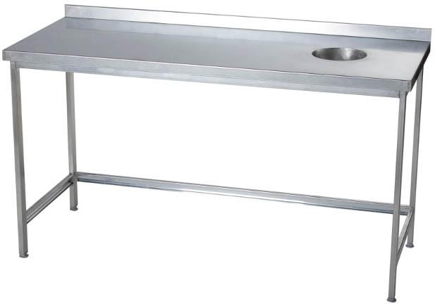 Стол для сбора отходов с бортом длина 600 мм