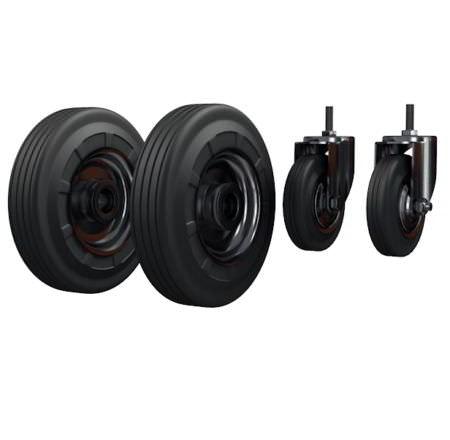 Комплект колес для ТГУ 300 - литое Ø250 мм 2 шт. литое+2 шт. Ø125