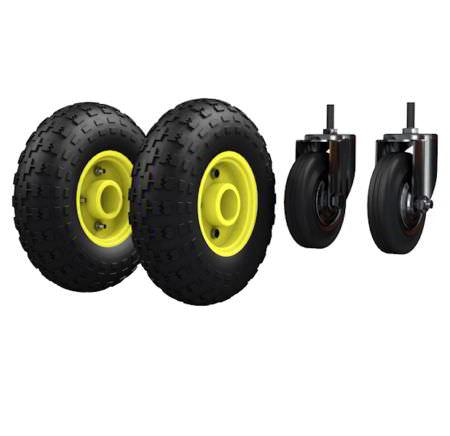 Комплект колес для ТГУ 300 пневмо - Ø250мм+2 шт. пневмо+2 шт. Ø125