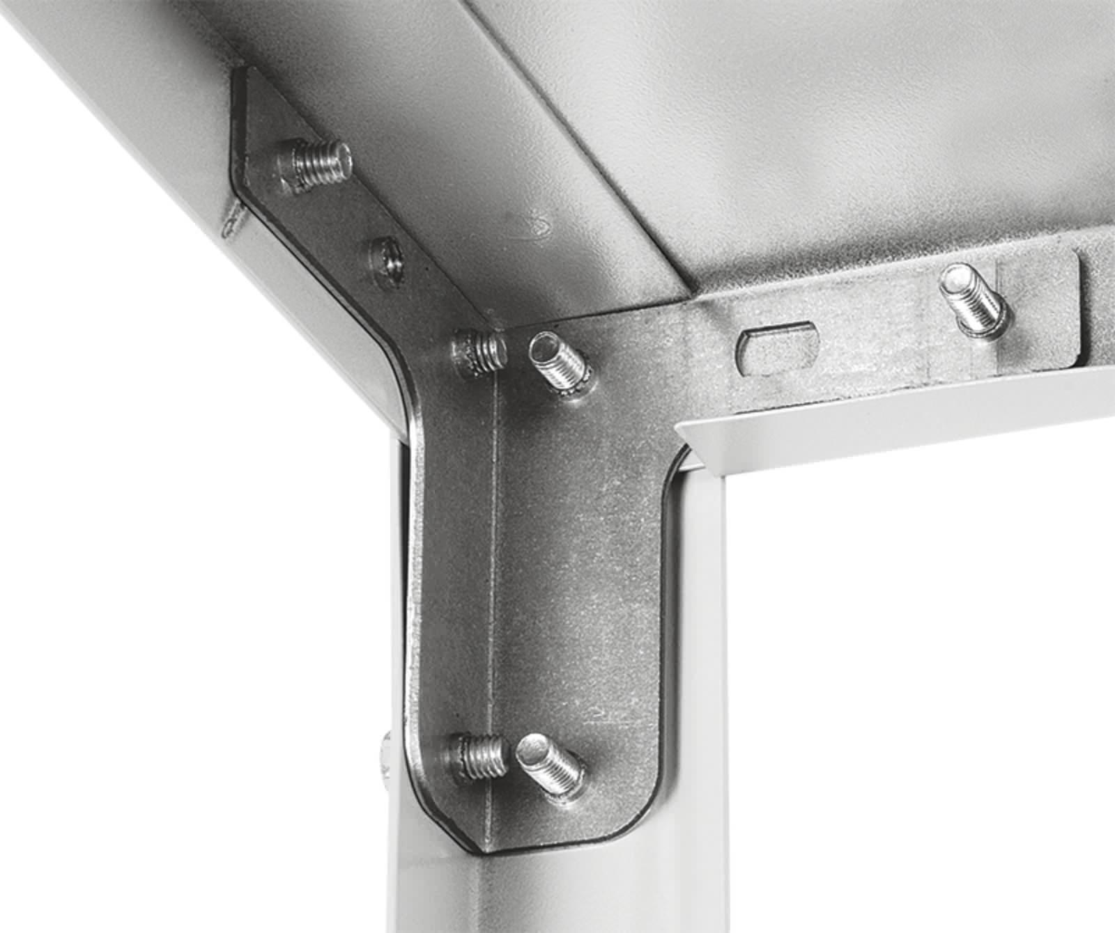 Комплект T-образного усилителя стойки (с резьбой 2 шт.+ подпятник пластиковый 1 шт.)