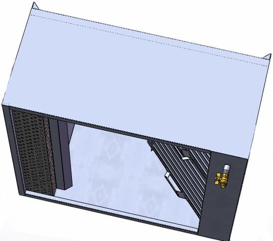 Зонт пристенный приточно-вытяжной длина 800 мм